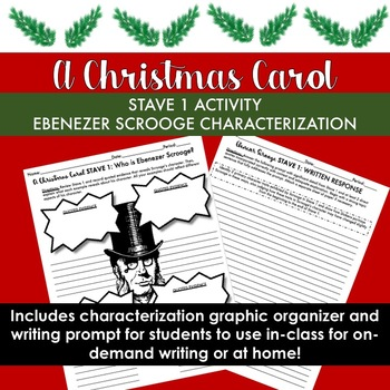 A Christmas Carol Activity for Stave 1: Scrooge Characterization