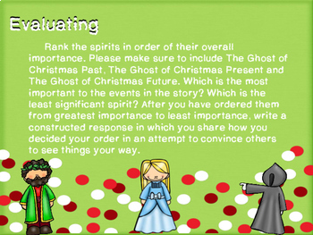 A Christmas Carol - Bloom's Taxonomy Choice Projects
