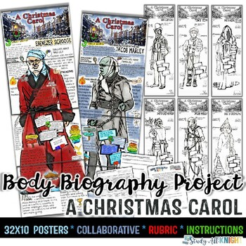 A Christmas Carol, Body Biography Project Bundle, For Characterization