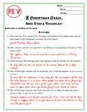 A Christmas Carol Book Guide and Vocabulary KEY