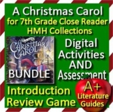 A Christmas Carol Bundle -  7th Grade HMH Collections Close Reader - HRW