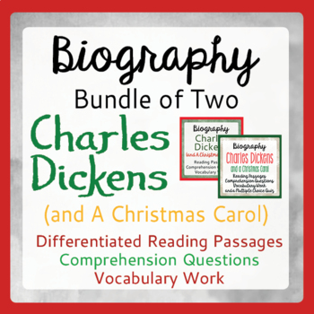 Charles Dickens & A Christmas Carol Differentiated Texts, Activities Grades 4-10
