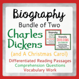 Charles Dickens & A Christmas Carol Differentiated Texts, Activities BUNDLE