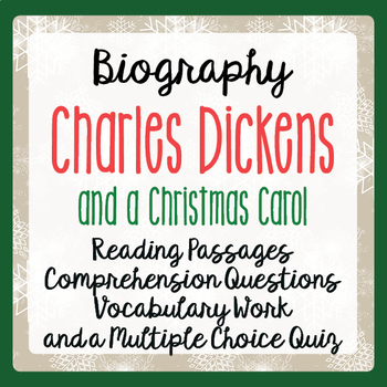 A Christmas Carol Charles Dickens Biography Informational ...