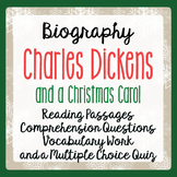 A Christmas Carol Charles Dickens Biography Informational Text Activities