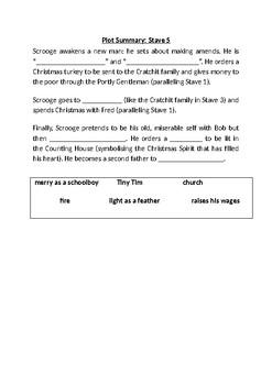 A Christmas Carol Cloze Stave 5