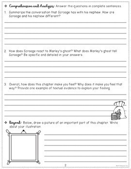A Christmas Carol: Comprehension & Vocabulary by chapter