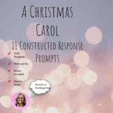 A Christmas Carol Constructed Response Package: Common Core