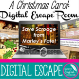A Christmas Carol Digital Escape Room for Honors SAT AP Pr
