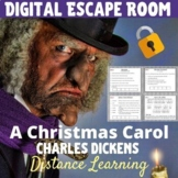 A Christmas Carol - Digital Escape Room - NO PREP -  Dista