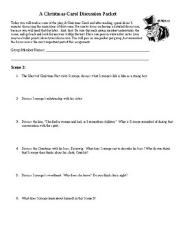 A Christmas Carol Discussion Packet