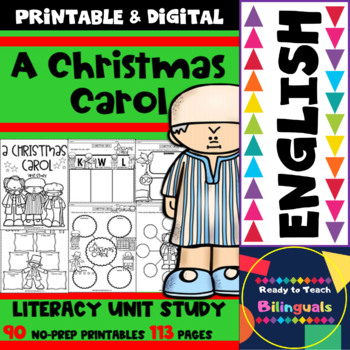 image relating to A Christmas Carol Worksheets Printable known as A Xmas Carol - English Literacy Gadget - 113 Internet pages