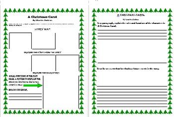 A Christmas Carol: Story Map, Personal Narrative, Paragraph Writing