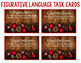 A Christmas Carol Figurative Language Task Cards