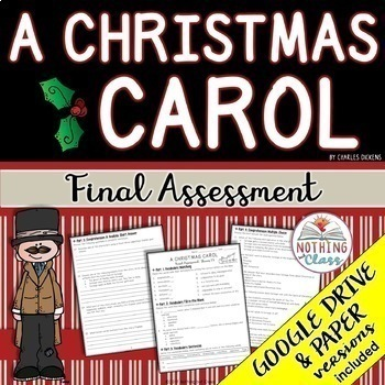 A Christmas Carol: Final Test, Quiz, Assessment