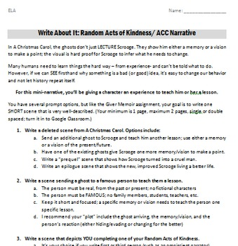 Little acts of kindness essays