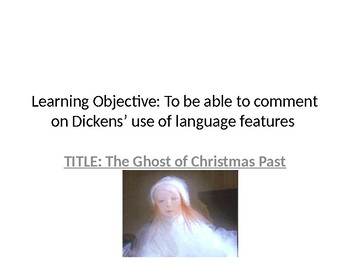 A Christmas Carol - Ghost of Christmas Past - English Literature