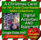 A Christmas Carol Google Activities + Self-Grading Test HMH Collections Cls Read