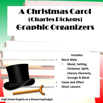 A Christmas Carol Graphic Organizers (Charles Dickens)