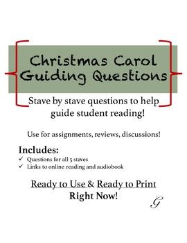 A Christmas Carol Guiding Questions