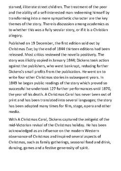 A Christmas Carol Handout
