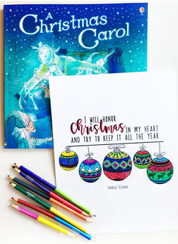 A Christmas Carol Interactive Notebook Activities by Keeping Life Creative