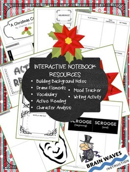 """""""A Christmas Carol"""" - Interactive Notebook Lessons and Activities"""