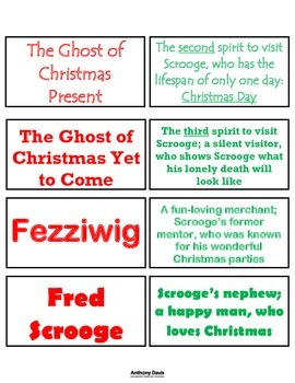 A Christmas Carol JIGSAW ACTIVITY CARDS