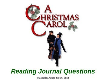 Christmas Carol - Journal Response Questions - Charles Dickens