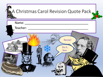 A Christmas Carol - Key Quotes by ECPublishing | TpT