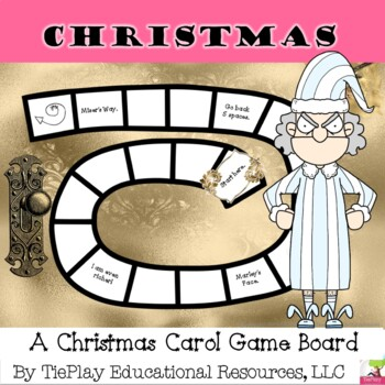 A Christmas Carol Literacy Learning Game Board
