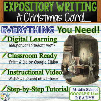 A Christmas Carol - Charles Dickens - Text Dependent Analysis Expository Writing
