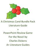A Christmas Carol Literature Guide + Power Point Review Ga
