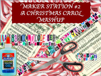A Christmas Carol, literacy center, task cards, poetry, hands-on