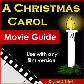 A Christmas Carol Movie Guide (Any Version) by English Teacher Mommy