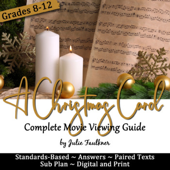 A Christmas Carol Movie Viewing Guide, Questions, Prompts, Sub Plan