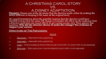 RACE: A Christmas Carol Movie vs. Text
