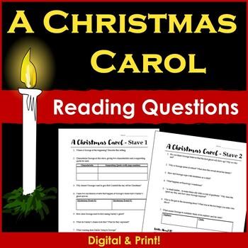 A Christmas Carol Novel Reading Questions