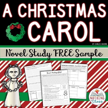 A Christmas Carol Novel Study FREE Sample