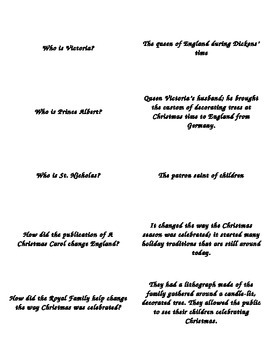 A Christmas Carol Novel Test Flashcards