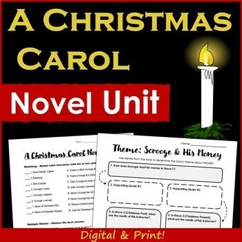 A Christmas Carol Novel Unit
