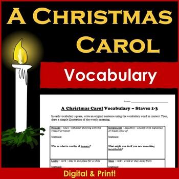 A Christmas Carol Novel Vocabulary
