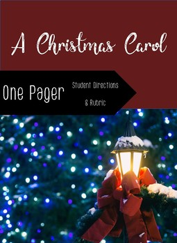 A Christmas Carol- One Pager Student Instructions and Rubric