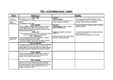 A Christmas Carol PEE Overview Worksheet - Family