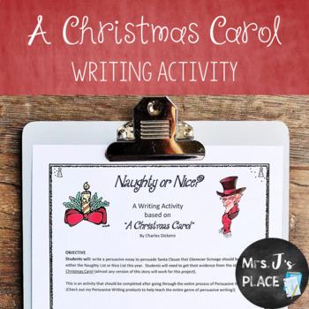 A Christmas Carol Persuasive Writing Activity