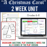 A Christmas Carol Unit Plans for Play version   Printable AND Digital   2 wks