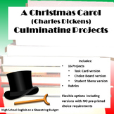 A Christmas Carol Culminating Projects [Task Cards] (Charl