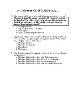 A Christmas Carol Quickie Quiz