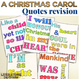 A Christmas Carol Quote Cards