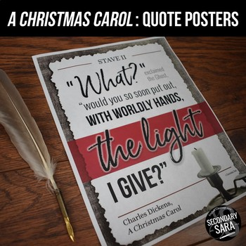 A Christmas Carol Quote Posters: Decoration and Discussion Starters